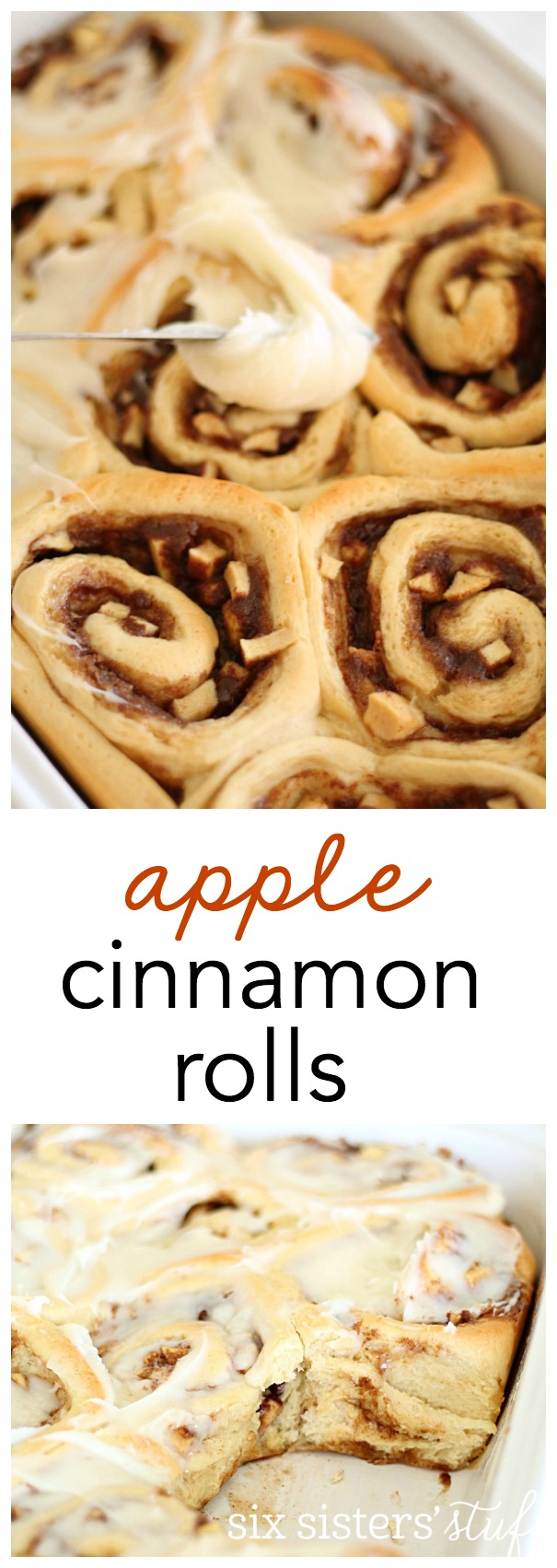 The BEST Apple Cinnamon Rolls from SixSistersStuff.com!