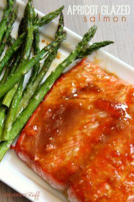 Apricot Mustard Glazed Salmon
