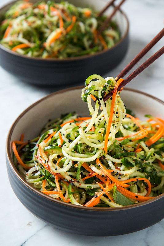 asian sesmae cucmber salad