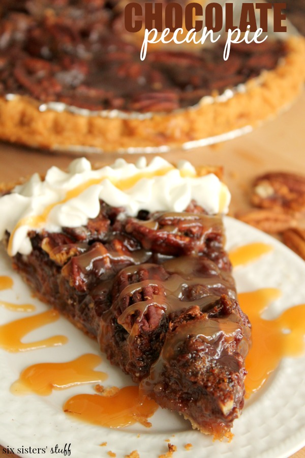 chocolate pecan pie 2 six sisters stuff