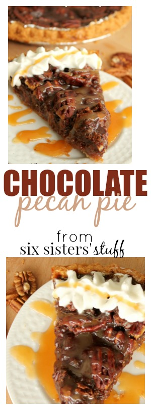 chocolate pecan pie from six sisters stuff pin