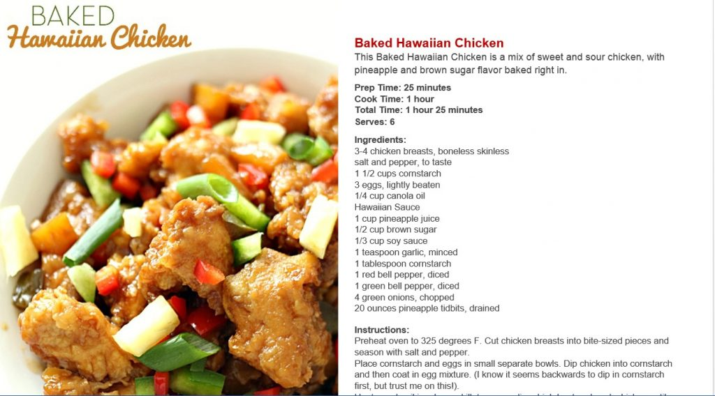 ebook baked hawaiian chicken