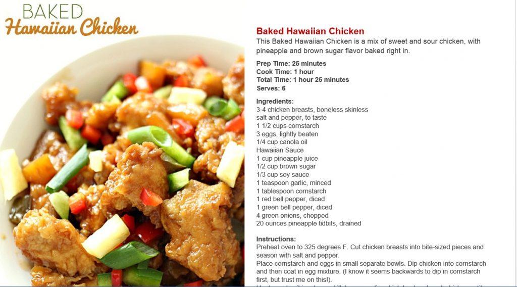 ebook baked hawaiian chicken