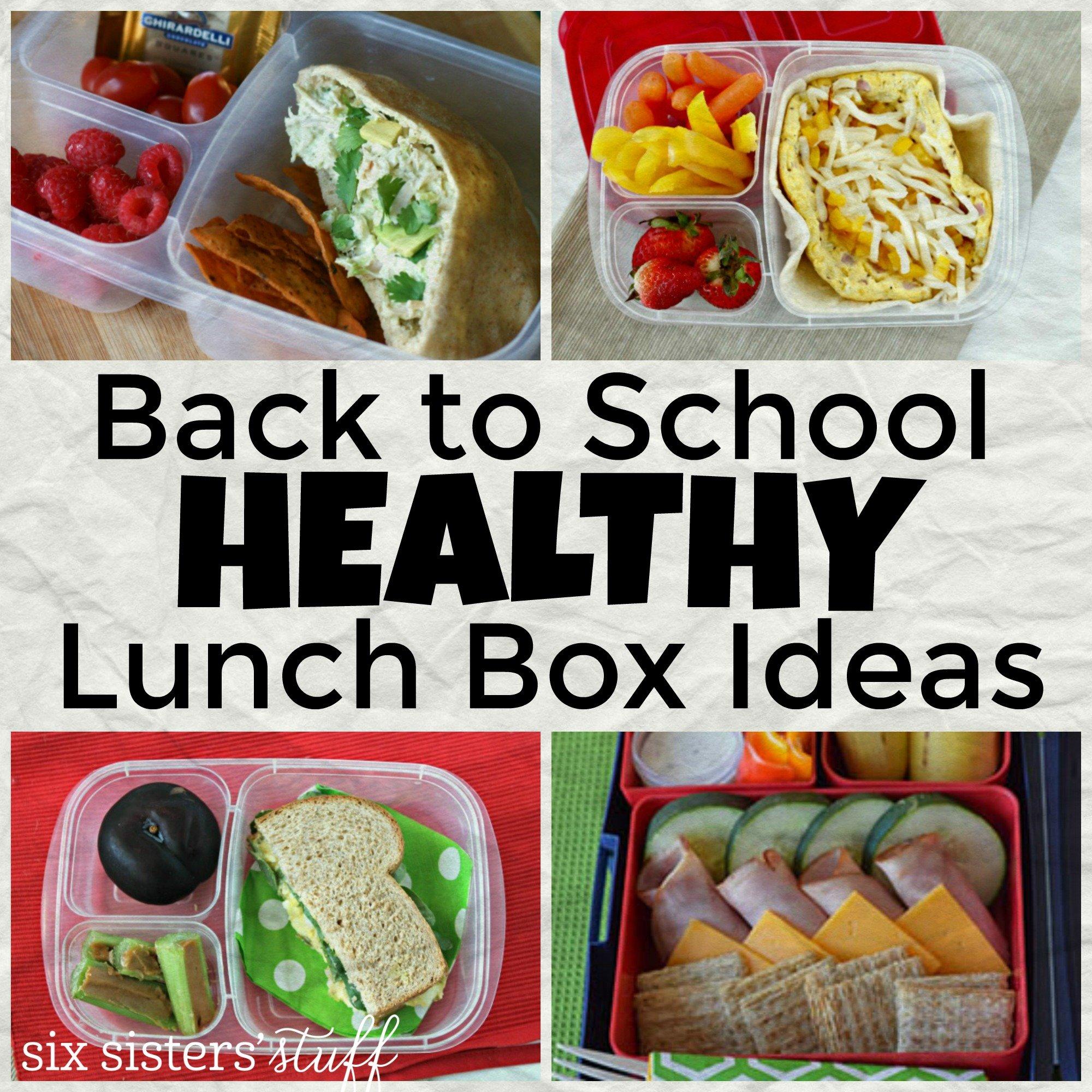 Back to School Healthy Lunch Box Ideas