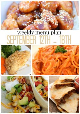 Weekly Menu Plan September 12th – 18th