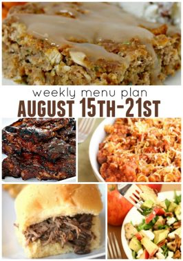 Weekly Menu Plan August 15th-21st