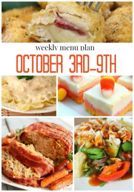 Weekly Menu Plan October 3rd-9th