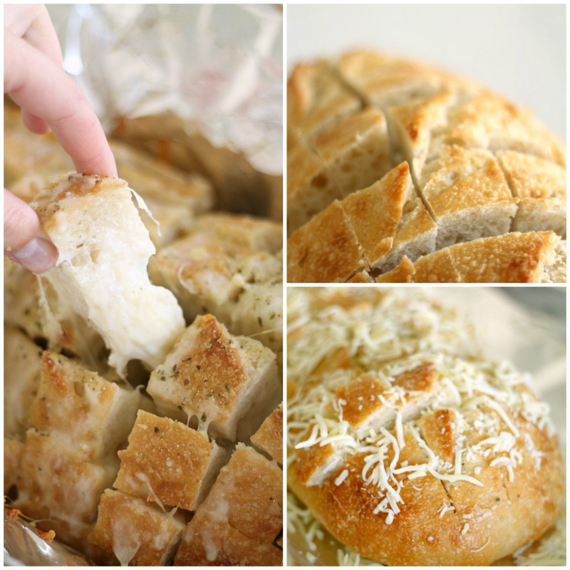 Amazing Cheesy Garlic Pull Apart Bread from SixSistersStuff.com