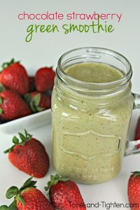 Chocolate-Strawberry-Green-Smoothie-on-Tone-and-Tighten.com_