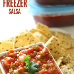 Easy Freezer Salsa on SixSistersStuff