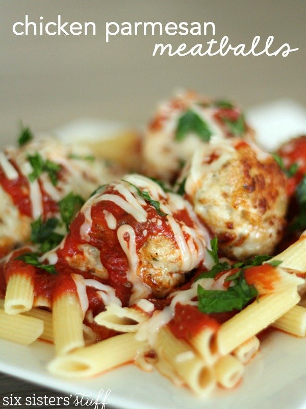 Homemade Chicken Parmesan Meatballs Recipe