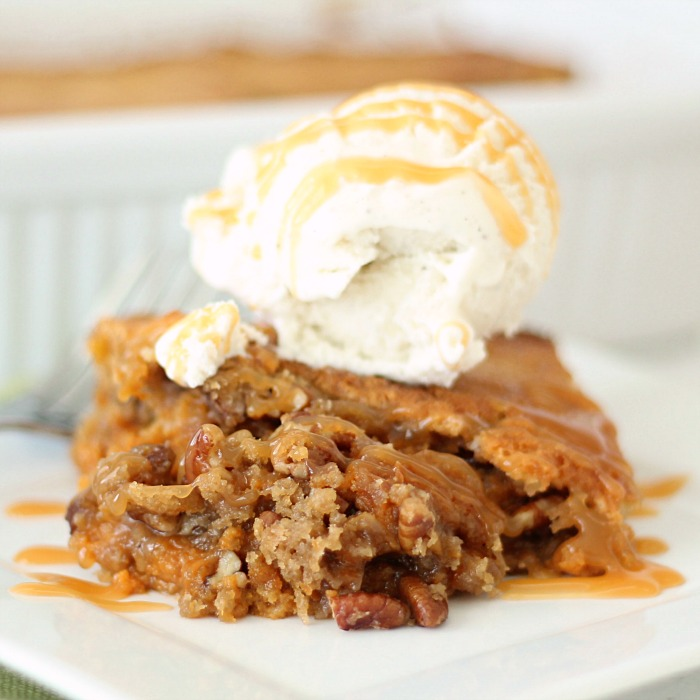 Pumpkin Pecan Cobbler Recipe | Six Sisters' Stuff