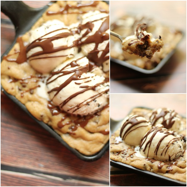 Pizookie collage