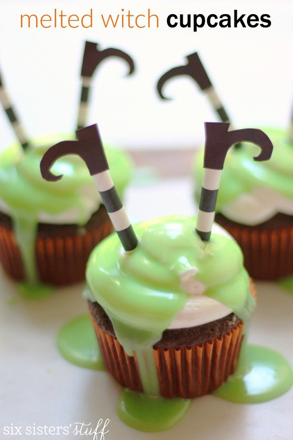 Six Sisters melted witch cupcakes
