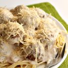 Stroganoff Spaghetti and Meatballs