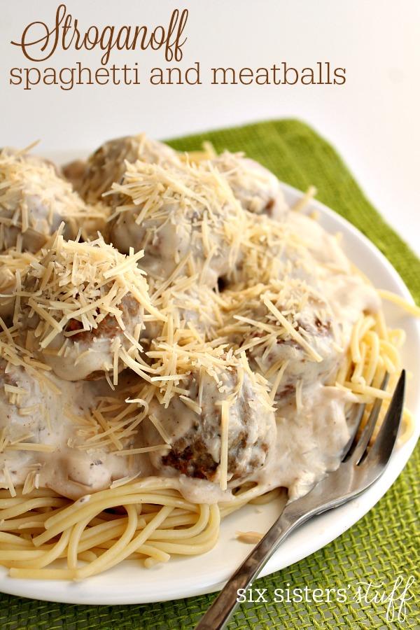 Stroganoff Spaghetti and Meatballs Recipe