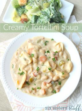 One Pot Creamy Tortellini Soup