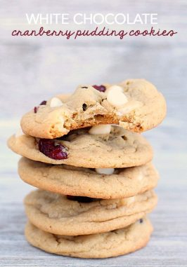 White Chocolate Cranberry Pudding Cookies Recipe