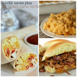 Weekly Menu Plan October 24th-30th