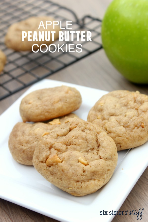 Apple Peanut Butter Cookies | Six Sisters' Stuff