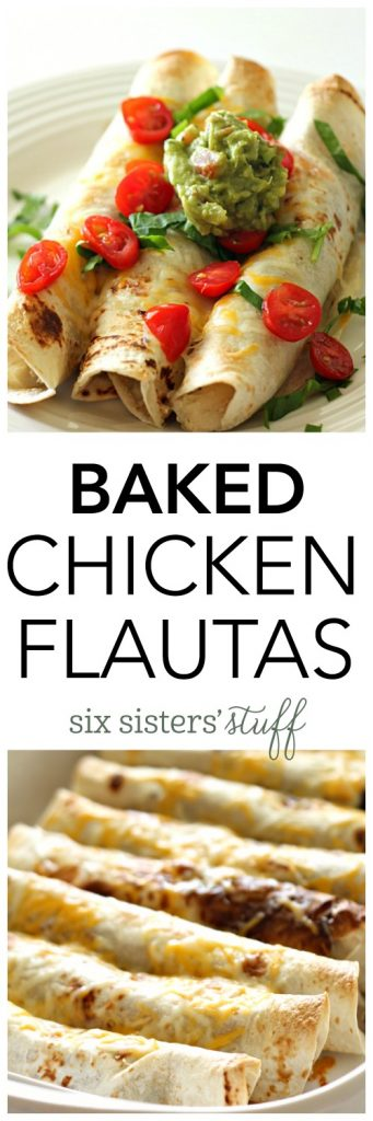 Baked Chicken Flautas from SixSistersStuff