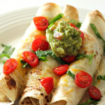 Baked Chicken Flautas on SixSistersStuff