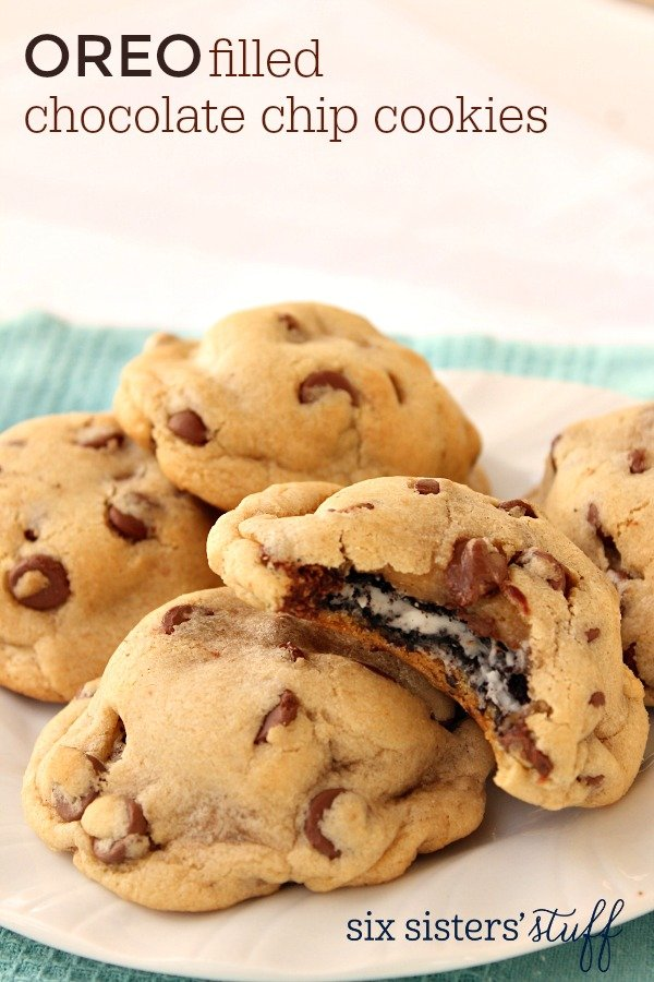 Oreo Filled Chocolate Chip Cookies Recipe