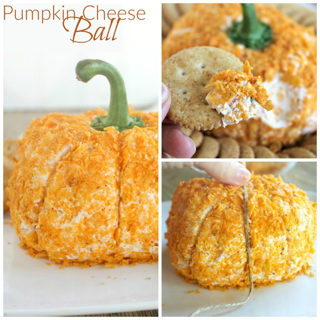 Pumpkin cheese ball 5