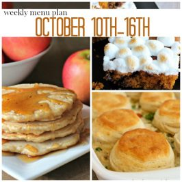 Weekly Menu Plan October 10th-16th