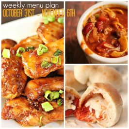 Weekly Menu Plan October 31st-November 6th
