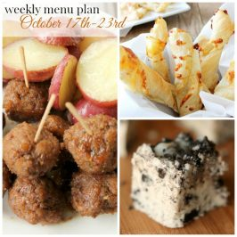 Weekly Menu Plan October 17th – 23rd