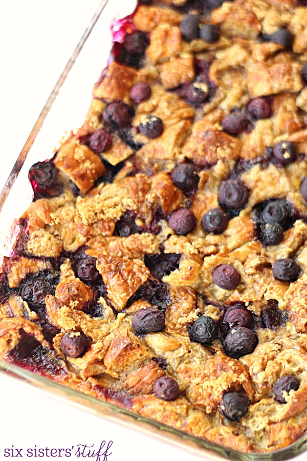 Blueberry Croissant Breakfast Bake from SixSistersStuff