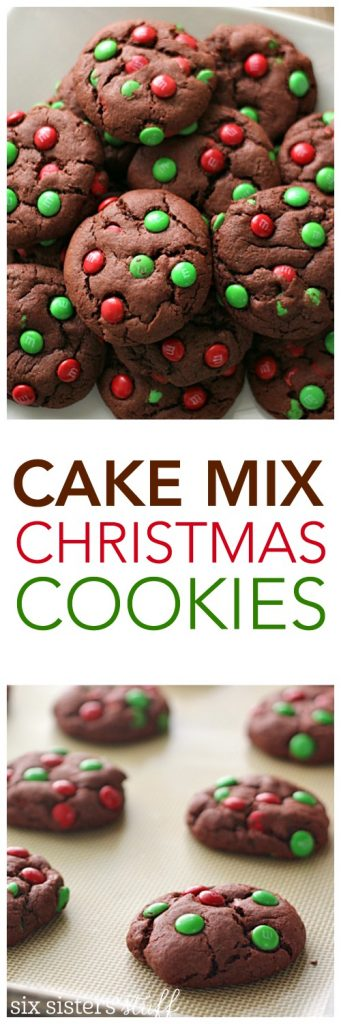 Cake Mix Christmas Cookies from SixSistersStuff