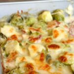 Cheesy Bacon Brussel Sprouts