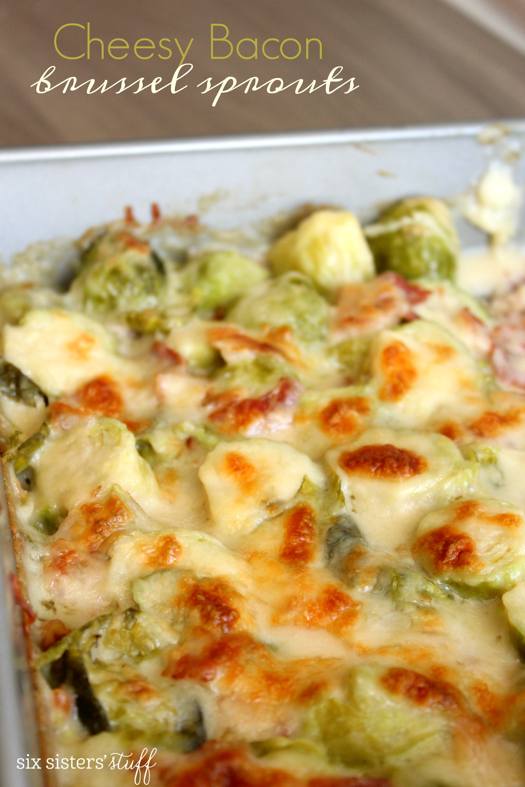 Cheesy Bacon Brussel Sprouts Recipe