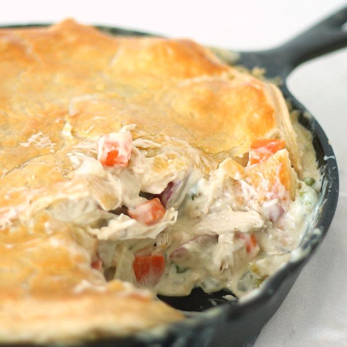 Chicken Pot Pie Skillet Recipe