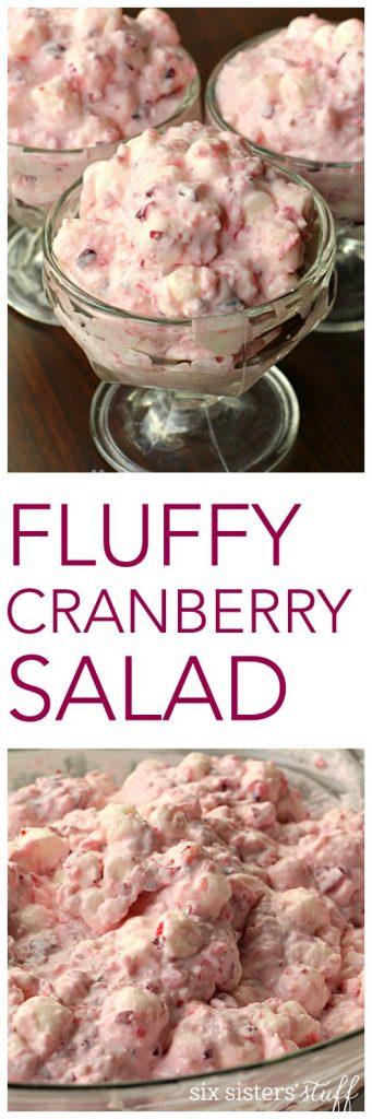Fluffy Cranberry Salad - SixSistersStuff