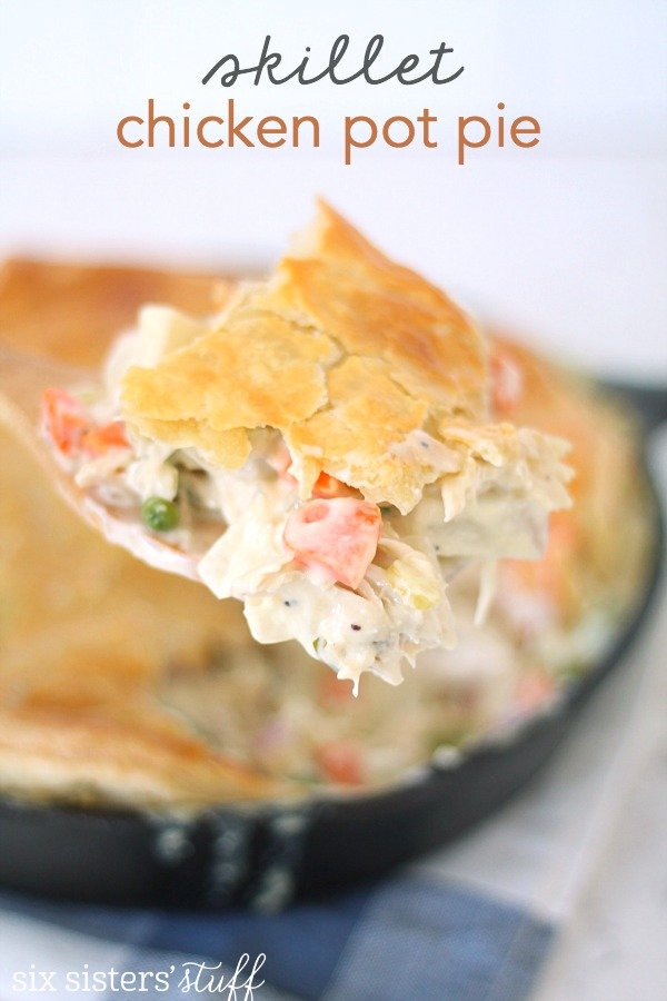 Skillet Chicken Pot Pie Recipe from SixSistersStuff.com
