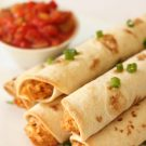 Slow Cooker Cheesy Chicken Taquitos