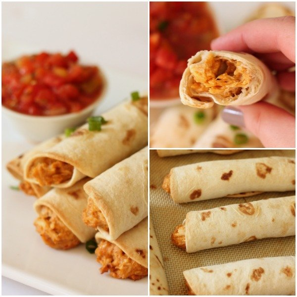 Slow Cooker Taquitos collage