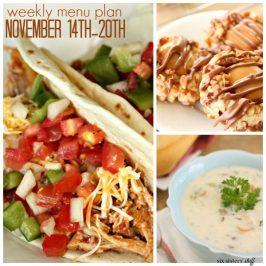 Weekly Menu Plan November 14th-20th