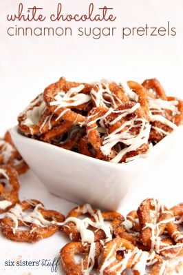 White Chocolate Cinnamon Sugar Pretzels Recipe