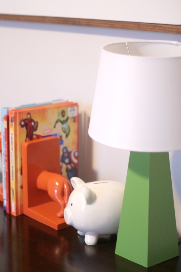 green lamp boys room