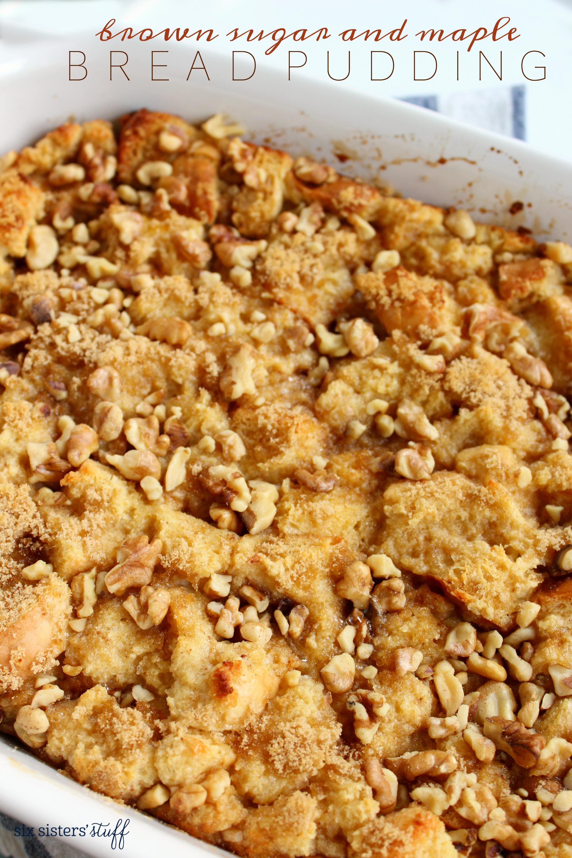 Brown Sugar and Maple Bread Pudding Recipe