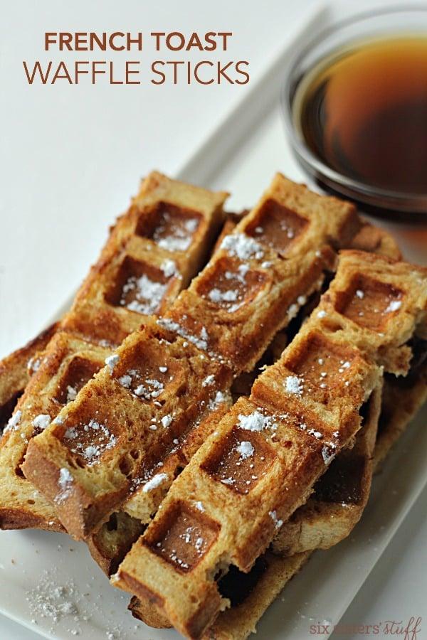 French Toast Waffle Sticks on SixSistersStuff