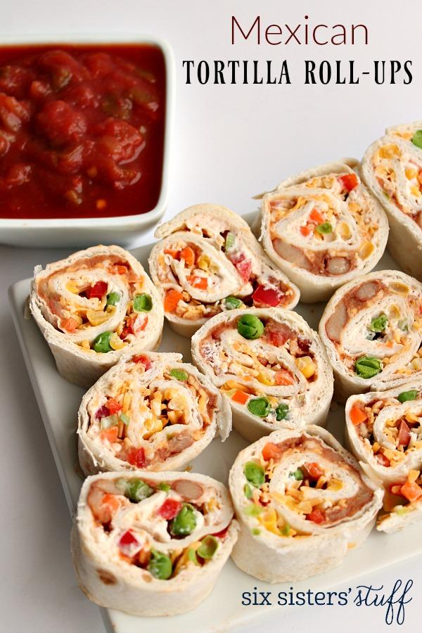 Mexican Tortilla Wrap Roll-Ups