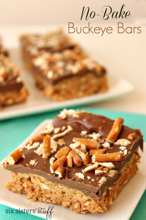 No-Bake Buckeye Bars Recipe