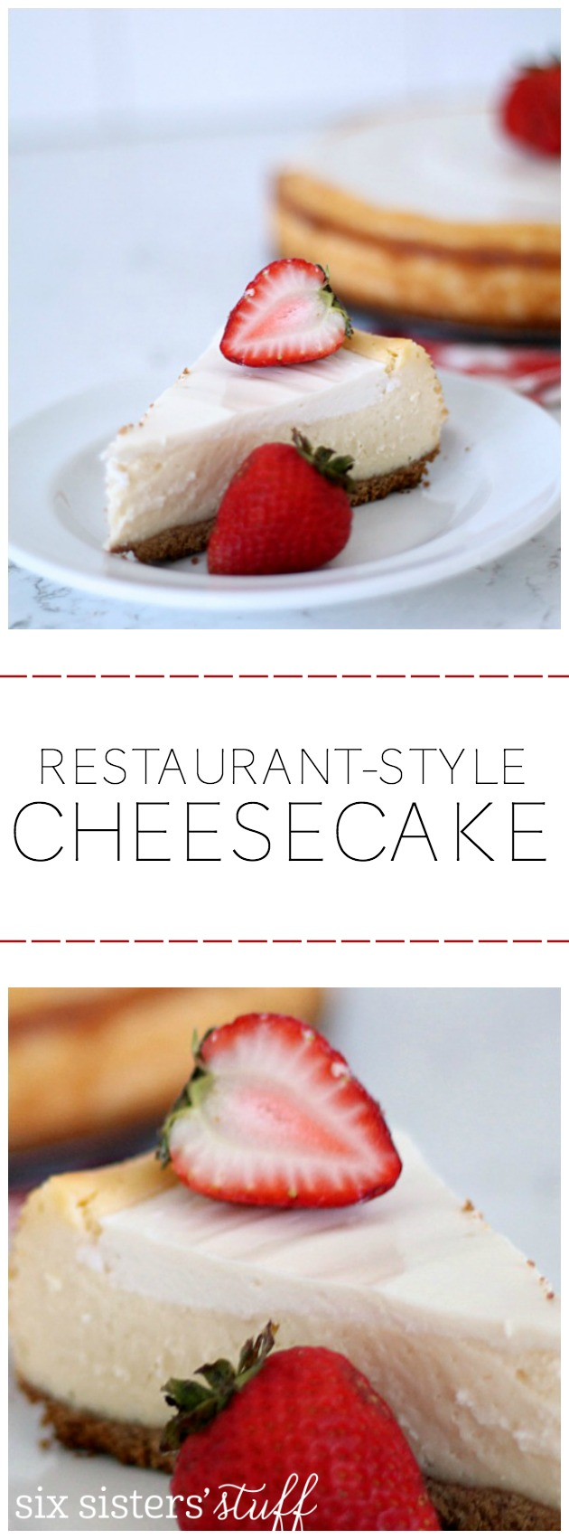 Restaurant Style Lion House Cheesecake from SixSistersStuff.com