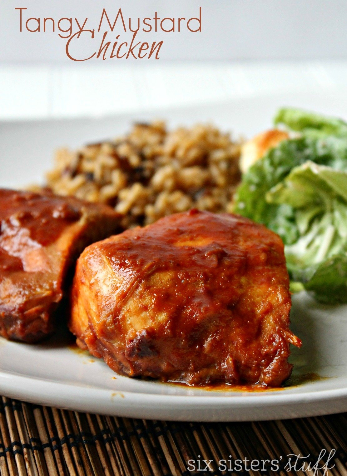 Slow Cooker Tangy Mustard Chicken Recipe