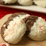 White Chocolate Dipped Peppermint Cookies